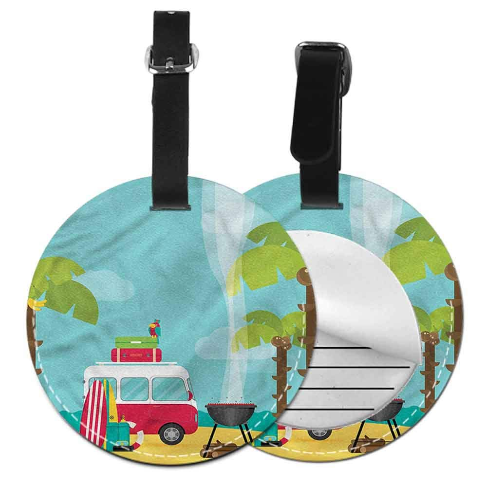 Cute Luggage Tag Explore,Coniferous Tree Sketch Creative gifts