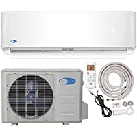 Whynter Mini Split Inverter Ductless Air Conditioner System & Heat Pump Full Set Seer 17 9000 Btu 115V