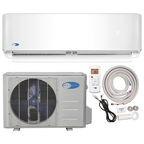 Whynter Mini Split Inverter Ductless Air Conditioner System & Heat Pump Full Set Seer 17 9000 Btu 115V by Whynter