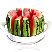 Wolisen Summer Fruit Watermelon Cantaloupe Melon Slicer Cutter Stainless Steel Cutter Kitchen Accessories(Random Color) (Middle)