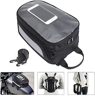 Amazon.com: Everrich Motorcycle Tank Bag Magnetic Waterproof ...