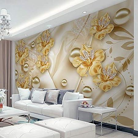 Ai Ya Bihua Apres Mur Papier Peint Pour Murs 3d Diamant Parure Fleur 3d Mur Peinture Art Salon Canape Tv Fond Photo Papier Peint Amazon Fr Cuisine Maison