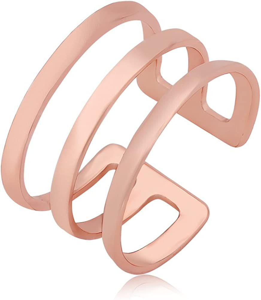 PANGRUI Exquisite Delicate Simple Triple Slight Adjustable Ring