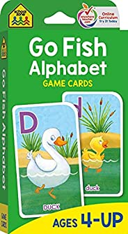 School Zone - Go Fish Alphabet Game Cards - Ages 4 and Up, Preschool to First Grade, Uppercase and Lowercase L
