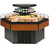 Federal Industries HXISS60SC Specialty Display Hexagon Island Self-Serve Refrige