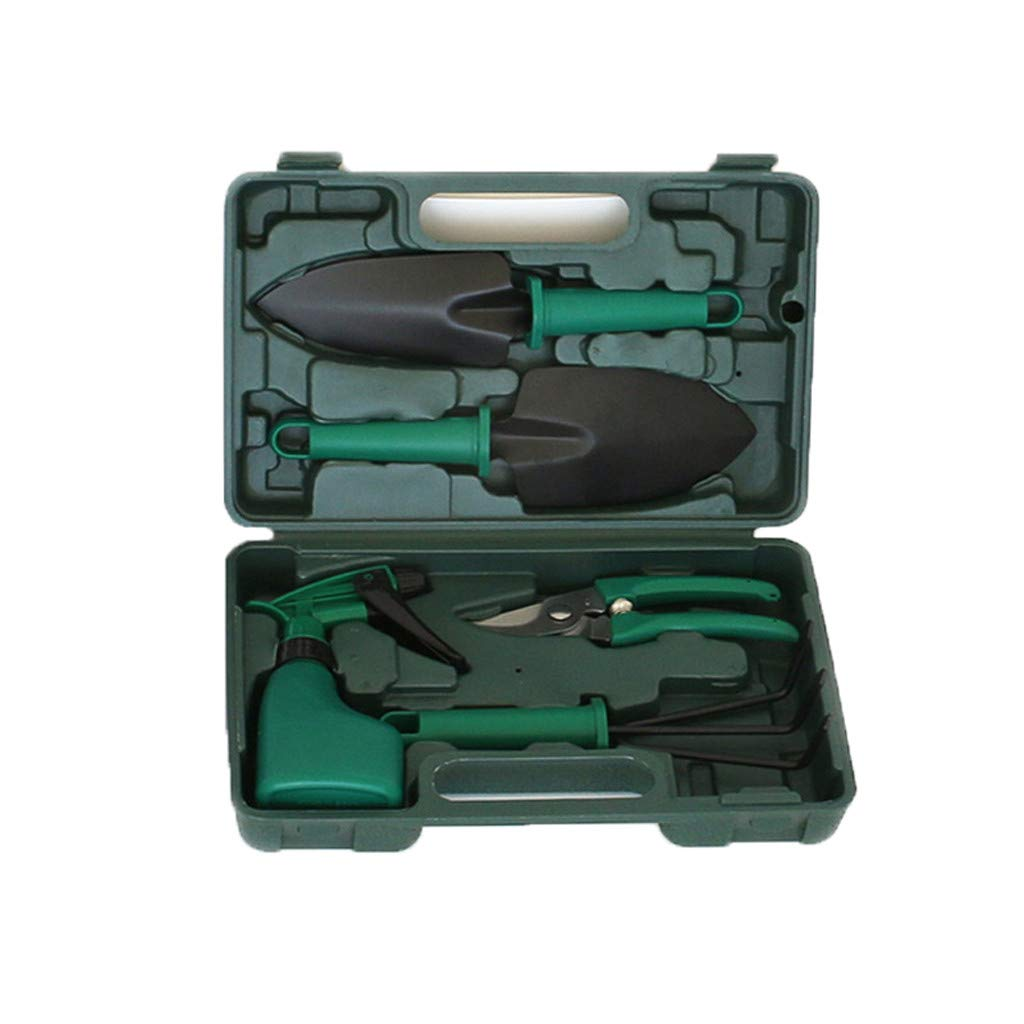 Naladoo Gardening Tools Set Portable 5 Pieces Stainless Steel Garden Tool Sets by Naladoo Home