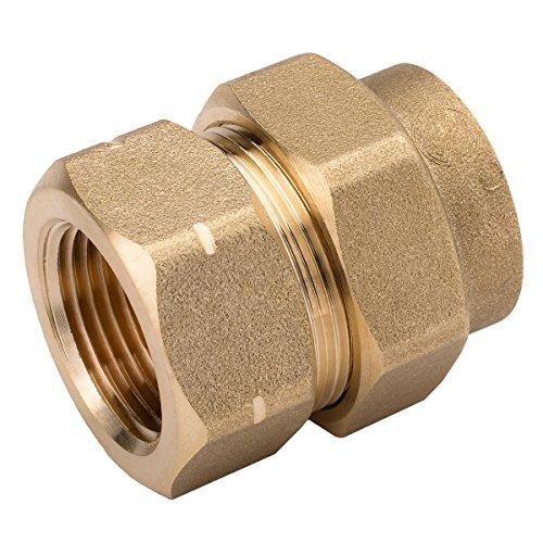 HomeFlex 11-435-007 3/4-Inch Brass Corrugated Stainless Steel Tubing  x FIPT Female Adapter