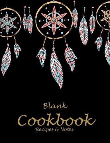 Blank Cookbook Recipes & Notes: Cute Black Dream