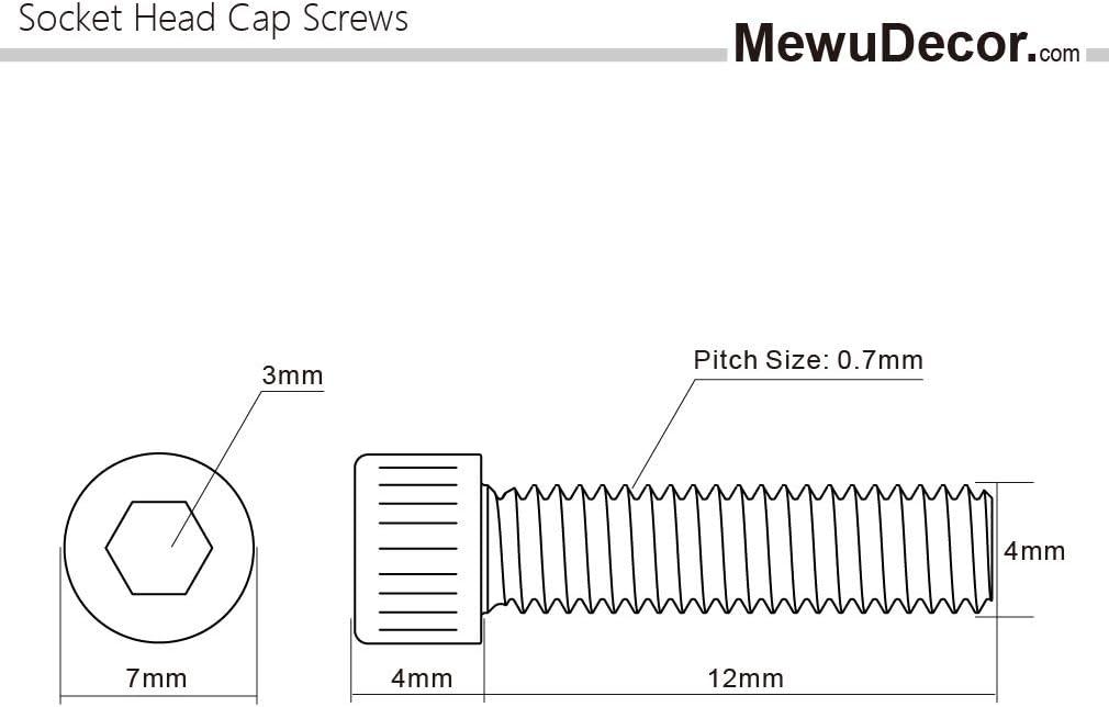 M4-.7P X 30MM Metric Hex Cap Screws 8.8 Zinc QTY 100