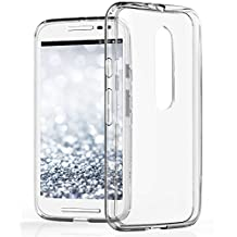 Motorola Moto G (3rd Gen) Case, Vena [RETAIN Hybrid] [+ShockProof CornerGuard] Slim Bumper Cover Hard Transparent Back Case for Motorola Moto G (3rd Gen, 2015) (Clear)