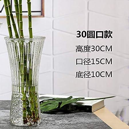 tgbvr Decoración De Florero De Vidrio De Bambú Rico Esmerilado Flores Hidropónicas Transparentes Arreglo Floral De Lirio Botella Hexagonal Creativa