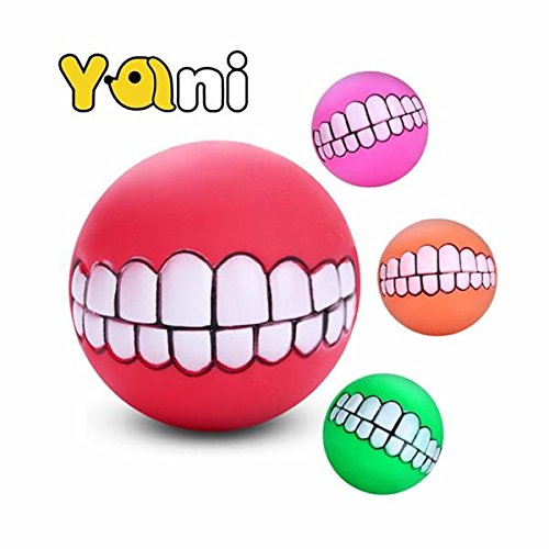 Dog Squeaky Toy - Pet Squeaky Toys - Squeaky Pet Toy Sound Chew Ball Soft Fun Bite Ball Toy Teeth Tranining Dog Toy ( Squeaky Ball Toy )