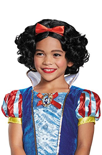 Deluxe Snow White Girls Costumes (Snow White Deluxe Child Wig, One Size)