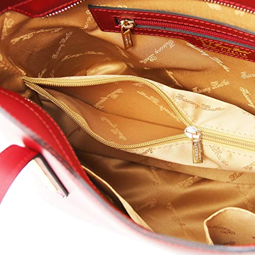 Leather Pink A In Tuscany Olimpia Borsa PelleMisura Ballet Piccola Rosso Mano 1TclFK35uJ