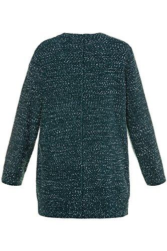 'Femme Sweaters 712551 Poches Femme Ulla Veste Pull Longue Casual Tricot sans Bouton en Cardigan Pull Popken Tailles Manche P Grandes avec 676qIH