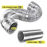 iPower 6 Inch 25 Feet Non-Insulated Flex Air
