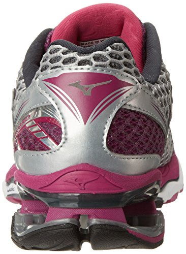 Mizuno Womens Wave Creation 17 Chaussure De Course Argent Aster Sauvage