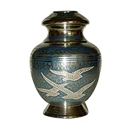 Cremation urn, funeral urns, ash urns, pet or human, brass container