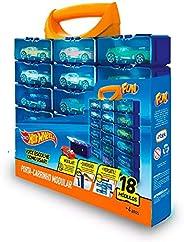 Porta Carrinhos Hot Whells 18 Módulos Mattel 8266-4