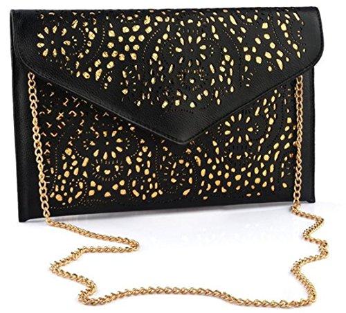 - Nodykka Evening Envelope Pu Leather Shoulder Bag Messenger Cross Body Handbag Tote Purse