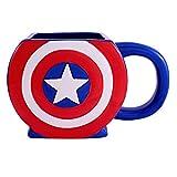 shield marvel mug - Silver Buffalo MC4795 Marvel Captain America Shield 3D Ceramic Mug, 22 Ounces