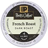 coffee packs for keurig - Peet's Coffee, French Roast, Dark Roast, K-Cup Pack (54 ct.), Single Cup Coffee Pods, Bold Dark Roast Blend of Latin American Coffees, with A Smoky, Flavorful Bite; for All Keurig K-Cup Brewers