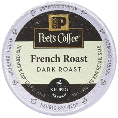 Peet's Coffee, French Roast, Base Roast, K-Cup Pack (54 ct.), Single Cup Coffee Pods, Bold Dark Roast Blend of Latin American Coffees, with A Smoky, Flavorful Chew; for All Keurig K-Cup Brewers