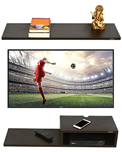 Anikaa Willy TV Entertainment Unit/Wall Set Top Box Stand Shelf (Wenge Big)