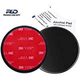 Randconcept - 95mm 3M VHB Adhesive Dashboard Pad Mounting Disk for Suction Cup Phone Mount & Garmin GPS Suction Mount | 3.74""
