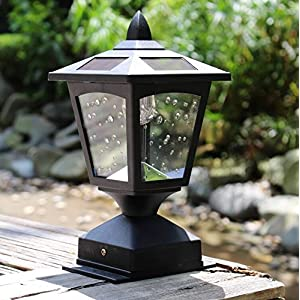 Pack of 2 4 x 4 Solar Powered Post Cap Light Wood Fence Posts Pathway,Deck,Fence Light (pack 2)
