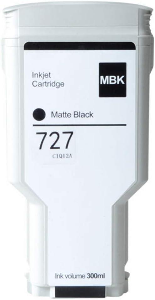 Aomya 300ml Matte Black Ink Cartridge Compatible for HP 727 Dye Ink for HP DesignJet T920 T930 T1500 T1530 T2500 T2530