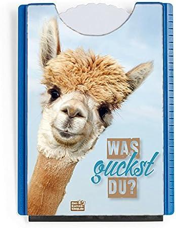 Der Karten Shop De Fun Spaß Motiv Parkscheibe Mit Eiskratzer Und Gummilippe Witziges Alpaka Was Guckst Du Auto