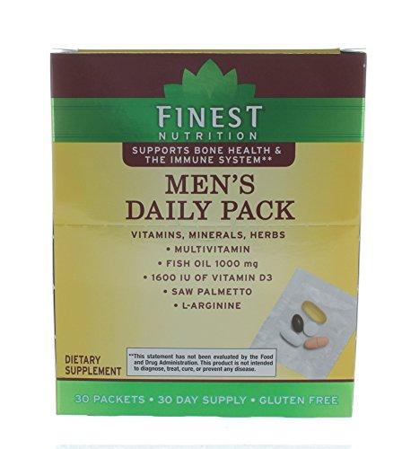Finest Nutrition Men's Daily Pack Vitamins Minerals Herbs Multivitamin 30 ()