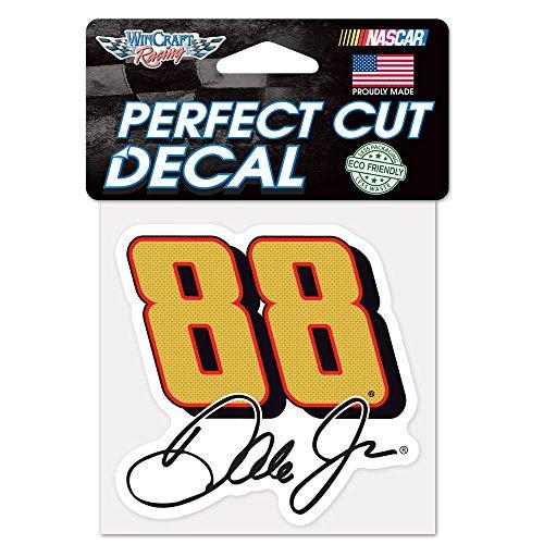 Dale Earnhardt Jr. Official NASCAR 4 inch x 4 inch Die Cut Car Decal