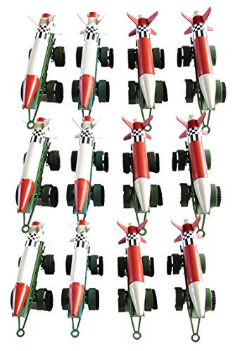 12 Piece Army Missiles with Launch Pad with Wheels - 4 inches