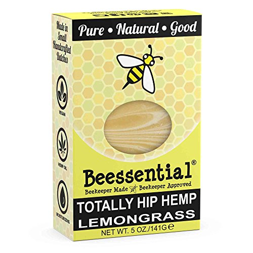 Beessential Totally Hip Hemp Soap, Lemongrass, 5 Ounce Lemongrass Moisturizing Bar Soap