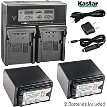 Kastar Fas Charger + 2x Battery for Panasonic VW-VBD78 VW-VBD58 VW-VBD29 AG-3DA1 AG-AC8 AG-DVC30 AG-HPX171 AG-HPX250 AG-HPX255 AG-HVX201 AJ-PCS060 AJ-PX270 AJ-PX298 HC-MDH2 HC-X1000 HDC-Z10000 HC-X1