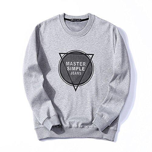 Lisux männer - Winter Pullover Kaschmirpullover mit männer - Casual Mode Pullover - Bewegung,Grau,L