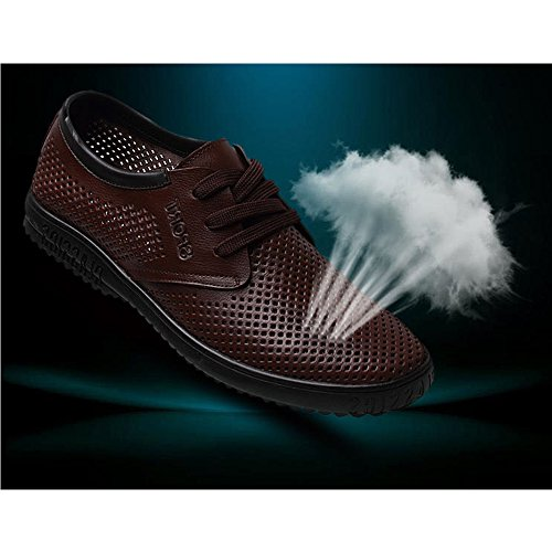 Nuevo Transpirables Hombres De del Zapatos Verano Estilo del Cuero Hombres Mediana Los Los De De Ocasionales De brown De Sandalias Los Los Hombres De XIAOLONGY Zapatos Edad De Los Zapatos wxvBqz0fwp