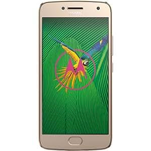 Moto G (5th Gen) G5 - 4G LTE Dual Sim XT1671 32GB FingerPrint Octa-core Factory Unlocked Smartphone International Version - (Gold)