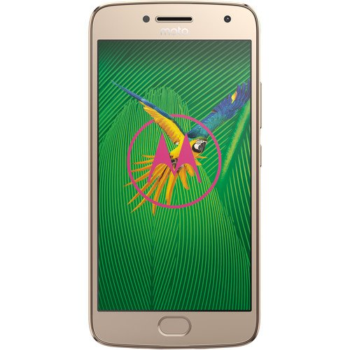 Moto G (5th Gen) G5 - 4G LTE Dual Sim XT1671 32GB FingerPrint Octa-core Factory Unlocked Smartphone International Version - (Gold)