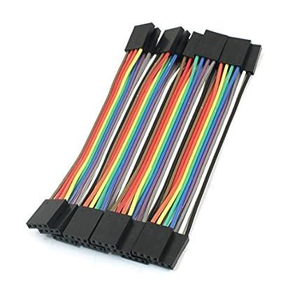 10cm 4Pin-4Pin F / F sin soldadura cable de puente del conector de cables