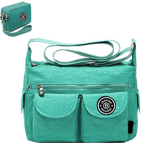 Casual Handbag Green (Nylon Crossbody Handbags Casual Shoulder Bags for Women Leisure Lightweight Messenger Bag Shoulder Bag with Lots of Pockets (green))