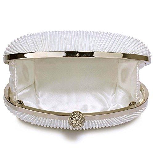 LeahWard Kleine Clutch-Tasche für Frauen Hochzeit Geldbörse Qualität Abendtasche Party Braut 092 (ROT) ELFENBEIN 1Kwamfh90