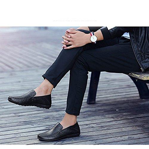 Pelle Pigro Scarpe Scarpe Primavera Scarpe In E black Uomo Nuovi Grandi Piselli Casual Da YXLONG Scarpe Dimensioni Guida Di Autunno Scamosciate Un Piede Uomo Da Da aFxYnqWA1