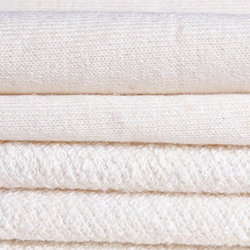 ECO Hemp Organic Cotton French Terry Fabric (Natural, sold by the yard)