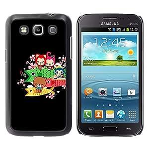 Caucho caso de Shell duro de la cubierta de accesorios de protección BY RAYDREAMMM - Samsung Galaxy Win I8550 - Cute Bear Fish Animals