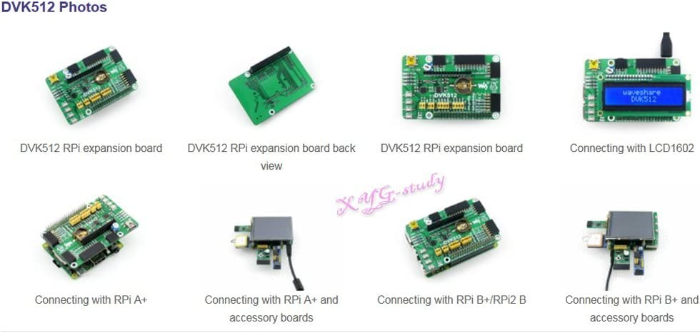A DVK512 Expansion Development Board mini PC Integrates Various Components and Interfaces for Raspberry Pi 1//2//3 Model B B Plus @XYGStudy