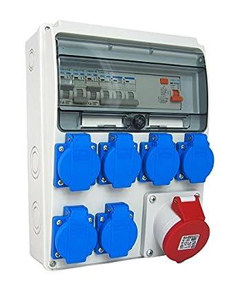 Cuadro eléctrico taller impermeable pré-câblé | estuche de obra fr/Fi/165 - 6: Amazon.es: Industria, empresas y ciencia