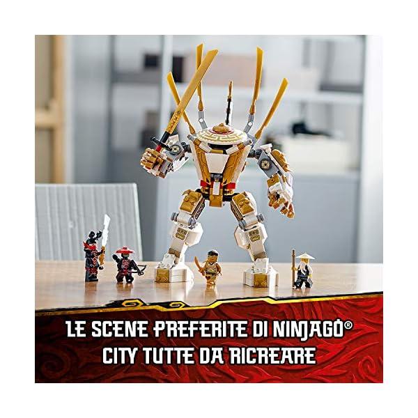 LEGO Ninjago Mech Dorato con Katana e 4 Minifigure: Lloyd, Wu e Generale Kozu, Set di Costruzioni Ricco di Dettagli per… 3 spesavip